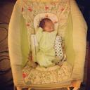 Nash in baby seat (April 2012)