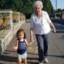 Omee & Bellie walking at Botanical Garden