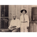 Photo of Charles Wells Cooley and his grandfather Larkin Biggs abt 1900