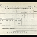 U.S War Dept Interment Record for John Hook